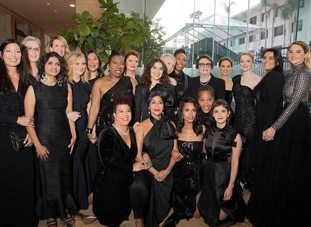 Atrizes e ativistas usaram preto durante o Golden Globe Awards 2018 (Foto: Reprodução/Instagram)
