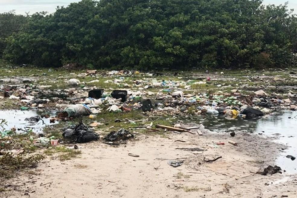 Lixão em Santo Amaro-MA criticado pelo ministro Ricardo Salles — Foto: Reprodução / Twitter