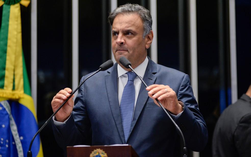 O senador afastado Aécio Neves (PSDB-MG) (Foto: Jefferson Rudy/Agência Senado)