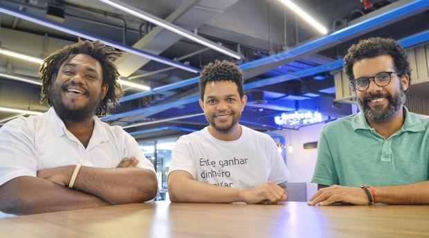 Equipe da Diaspora.Black, plataforma criada após um caso de racismo (Foto: Divulgação)
