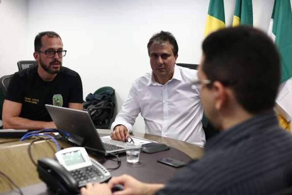 Camilo Santana afirmou que o estado segue realizando ações de combate ao crime — Foto: SSPDS/Divulgação