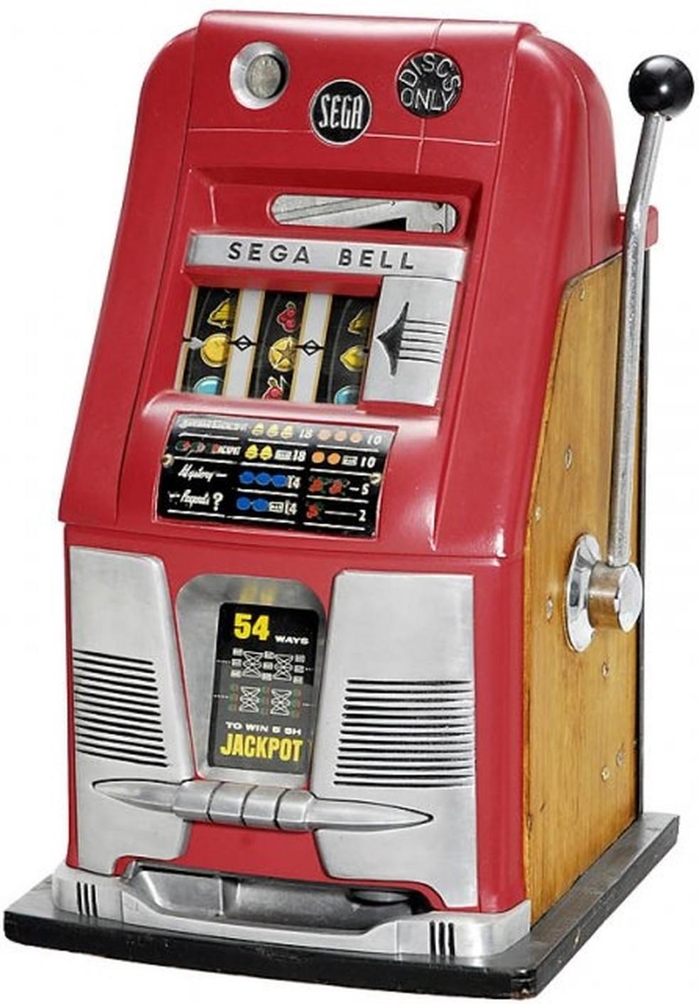 Sega Bell: máquina caça-níquel vendido pela Service Games — Foto: Reprodução/Sega Retro