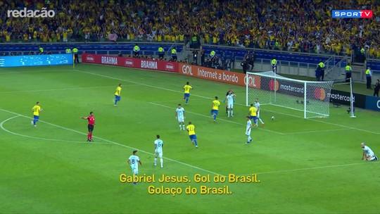 """No Redação AM, locutor argentino narra gol de Gabriel Jesus: """"Golaço"""""""