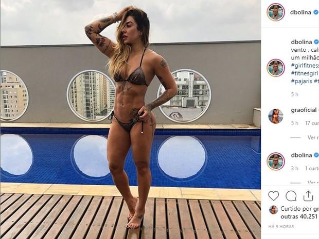Comentário de Gracyanne Barbosa na foto de Dani Bolina (Foto: reprodução/instagram)