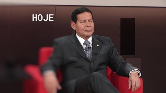 Central GloboNews entrevista o vice-presidente Hamilton Mourão