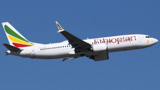 O avião 737 Max-8, da Ethiopian Airlines, que caiu no domingo (Foto: JONATHAN DRUION via BBC)