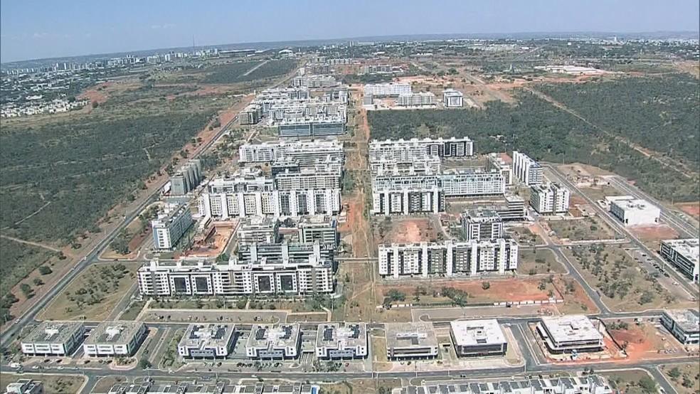 Imagem aérea do Noroeste, no final da Asa Norte, em Brasília — Foto: TV Globo/Reprodução
