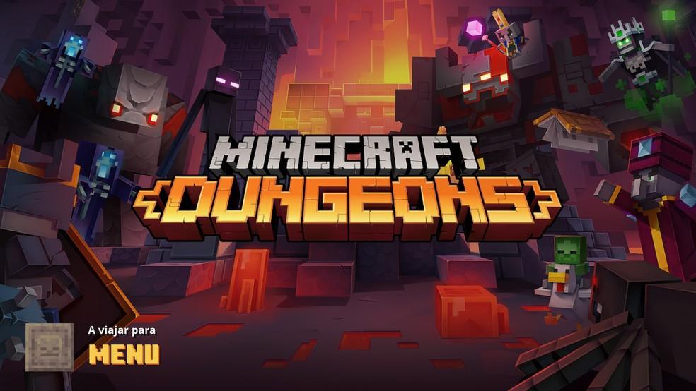 Minecraft Dungeons é novo jogo da franquia da Mojang Studios — Foto: Reprodução/Felipe Vinha