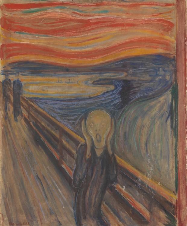"""""""O Grito"""" é a obra mais famosa de Edvard Munch (Foto: Munch, Edvard)"""