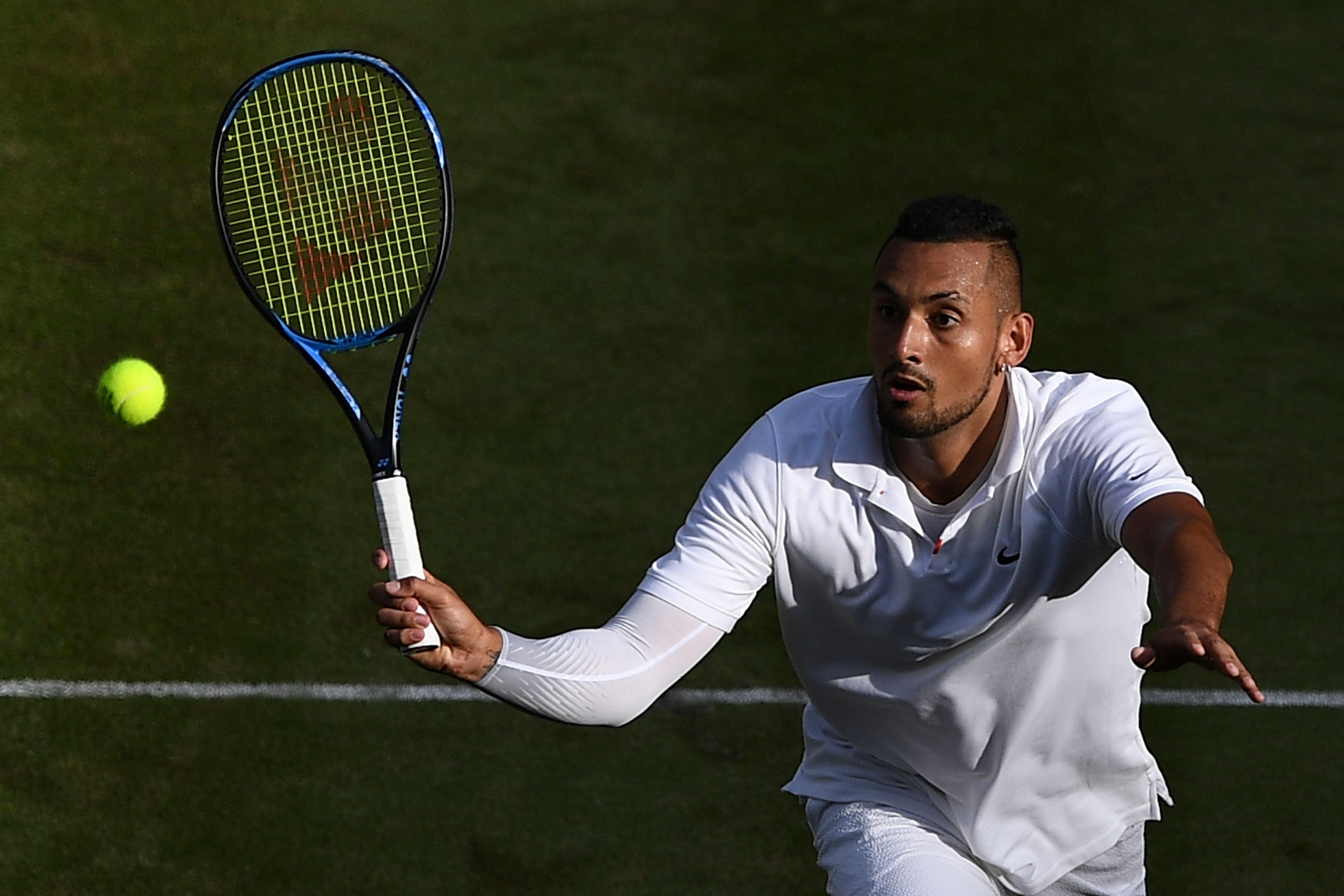 Kyrgios na derrota para Nadal em Wimbledon