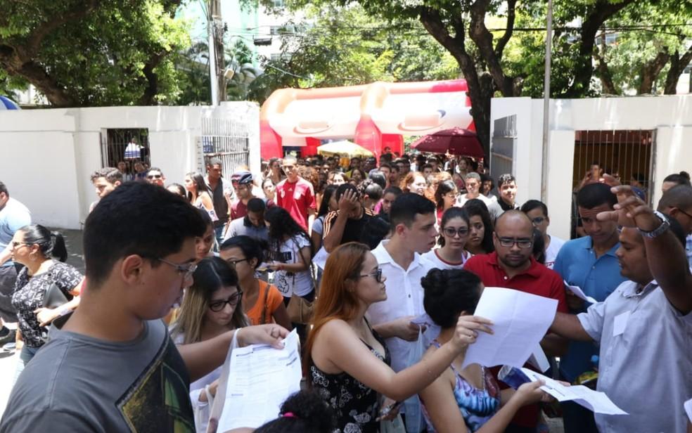 A Universidade Católica de Pernambuco foi um dos locais de prova do Enem 2018 na capital pernambucana — Foto: Marlon Costa/Pernambuco Press