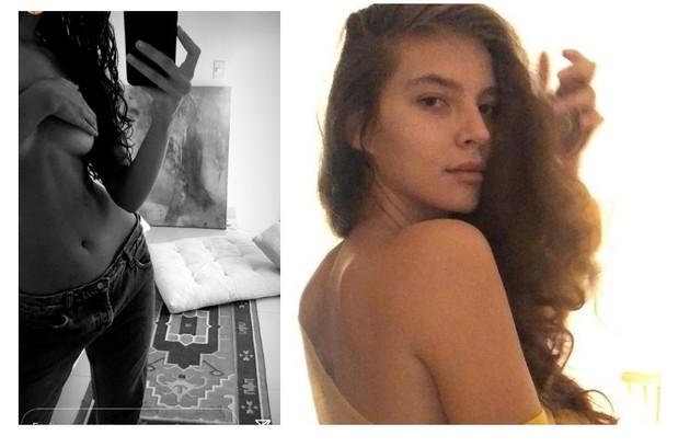 Alanis Guillen postou foto de topless mais de uma vez em suas redes (Foto: Reprodução)
