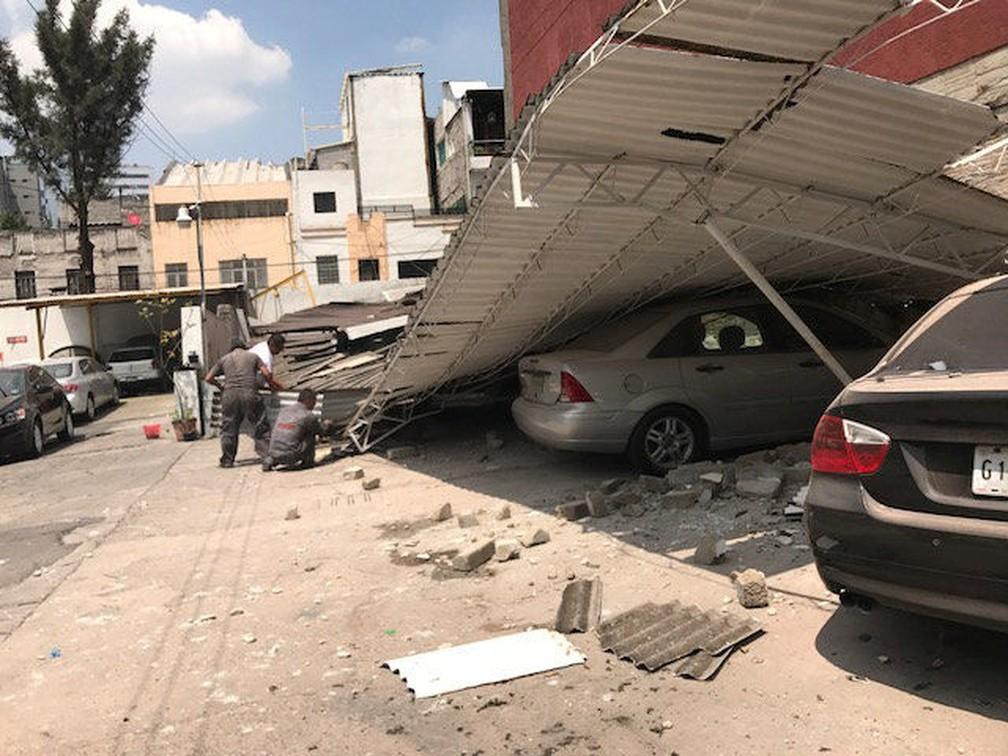 Terremoto de magnitude 7,1 provocou estragos na Cidade do México (Foto: Carlos Jasso/Reuters)
