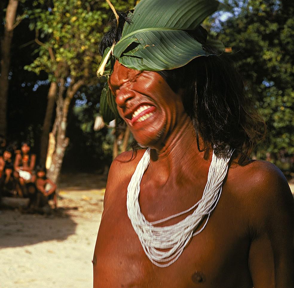 Palhaço indígena Hotxuá — Foto: Sesc DF/Divulgação