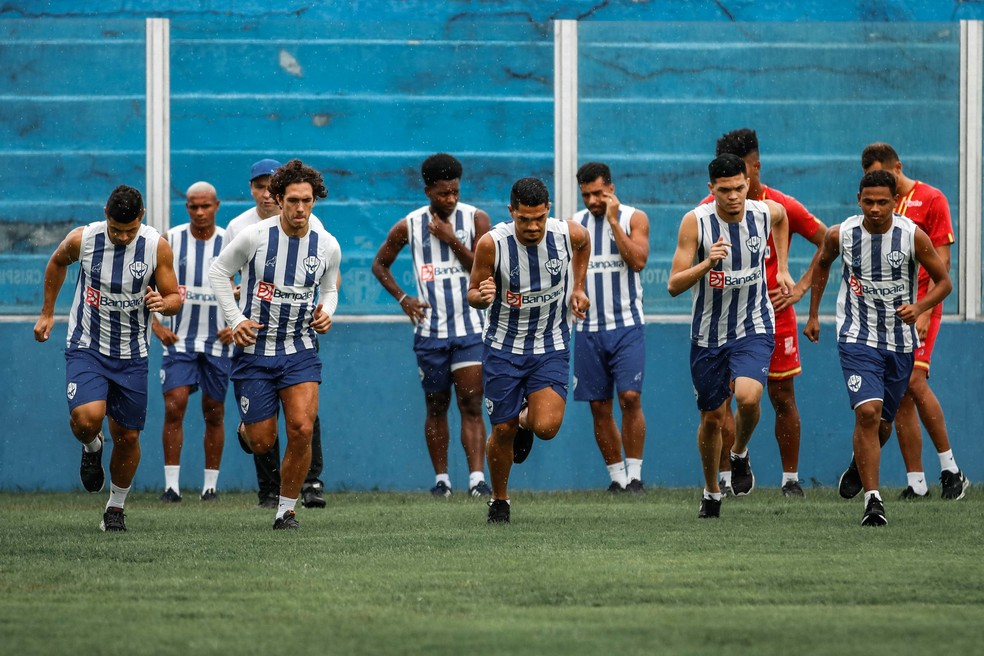 Elenco do Paysandu iniciou a pré-temporada de 2021 — Foto: Jorge Luiz/Ascom Paysandu