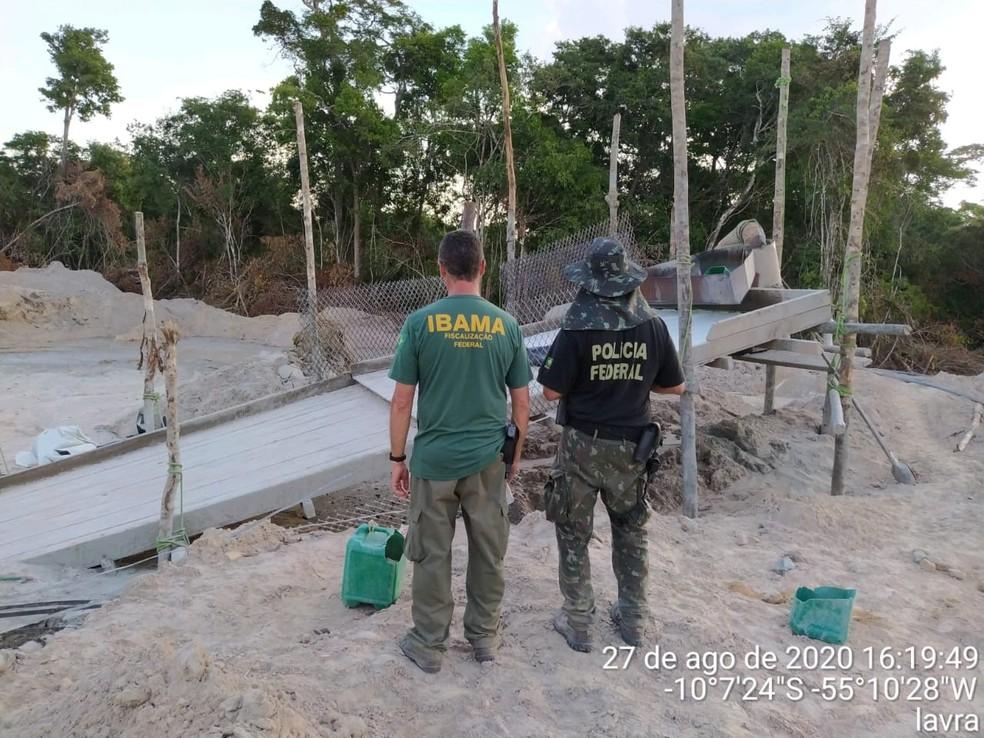 A Polícia Federal realizou uma operação de combate a crimes ambientais na região norte de Mato Grosso — Foto: Polícia Federal de Mato Grosso
