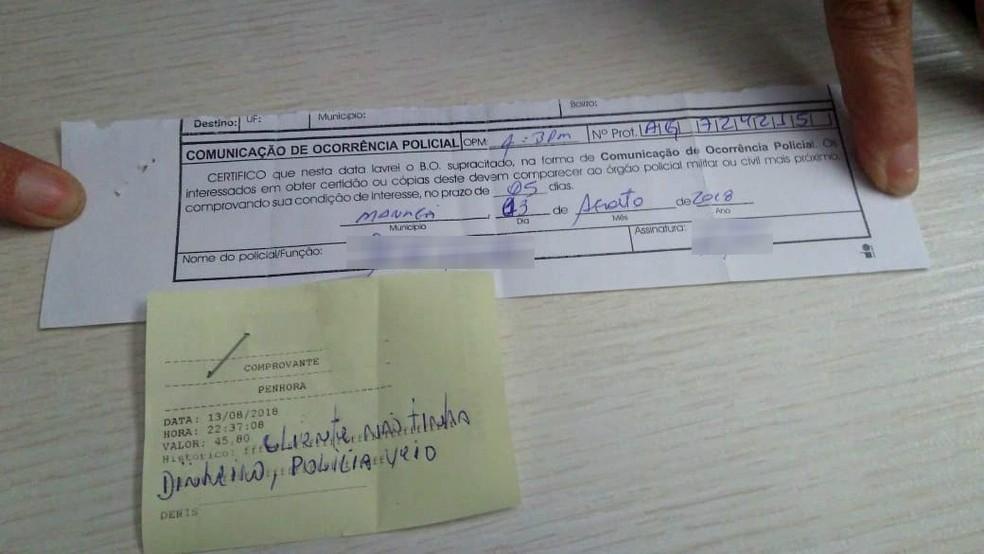 Motel tem cinco dias para fazer o Boletim de Ocorrência contra o casal que tentou pagar despesas com o cartão do bolsa família (Foto: Luzia Batista/Arquivo pessoal)