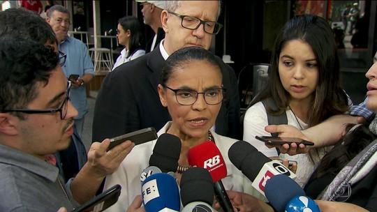Marina cita Gandhi e Obama e diz que em eleição de dois turnos 'a gente vota em quem acredita'