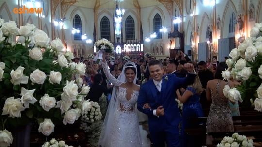Munik Nunes e Anderson Felício falam sobre emoção do casamento