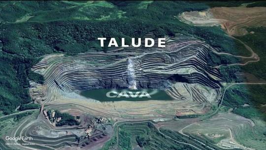 Paredão de mina da Vale em Barão do Cocais pode cair a qualquer momento