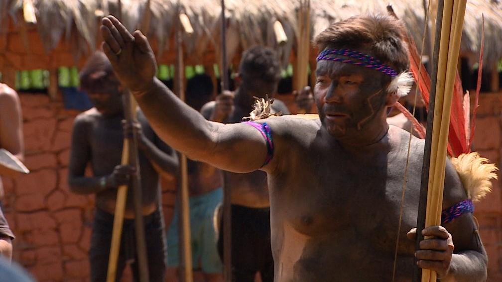 Líder indígena de Palimiú, Ério Yanomami — Foto: Alexandro Pereira/Rede Amazônica