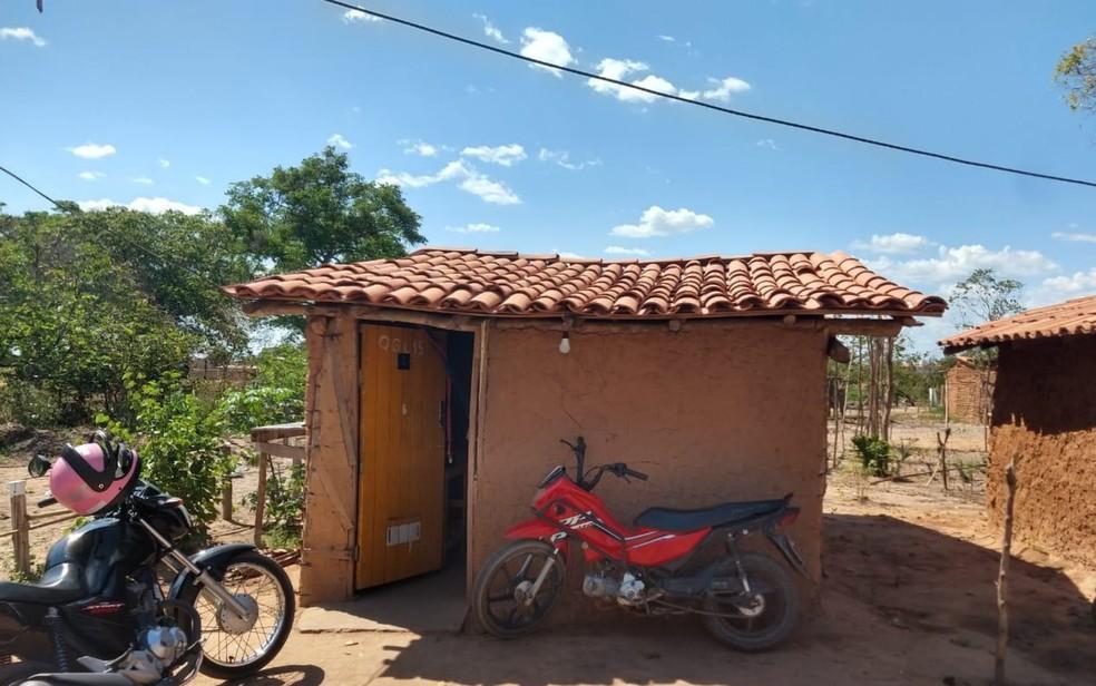 Casa onde o suspeito foi preso em Timon, no Maranhão — Foto: Divulgação/Polícia Civil
