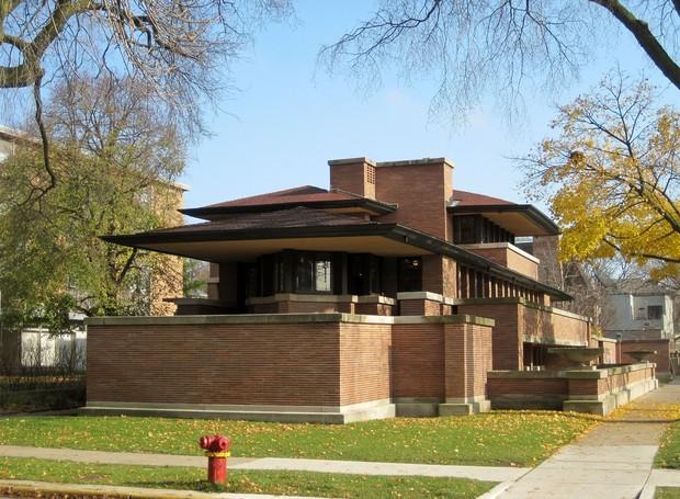 Casa Frederick C. Robie fica em Illinois, nos Estados Unidos. (Foto: Wikimedia Commons / Teemu08 )