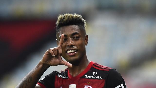 Comemoração de Bruno Henrique no Maracanã, Flamengo x Vasco - Brasileirão