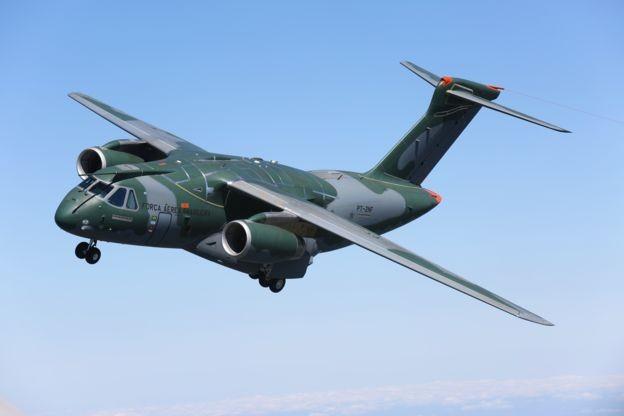O avião multimissão KC-390 (Foto: DIVULGAÇÃO/EMBRAER)