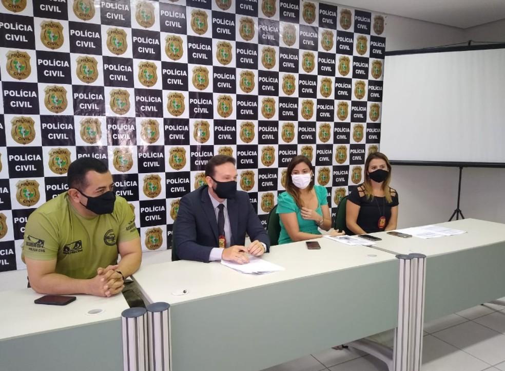 DHPP divulgou resultado de operação contra grupo investigado por homicídios em Fortaleza. — Foto: Darley Melo/Sistema Verdes Mares