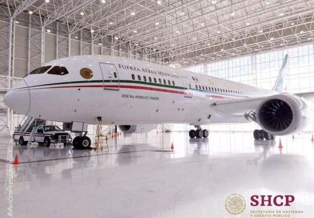 O Boeing 787-8 foi comprado pelo governo mexicano em 2012 (Foto: Secretaria da Fazenda e Crédito Público do México via BBC)