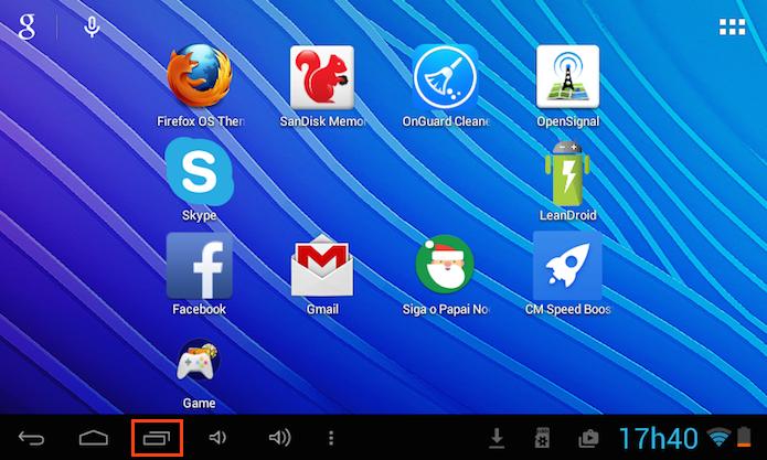 Ativando a opção Aplicativos Recentes no Android (Foto: Reprodução/Edivaldo Brito)