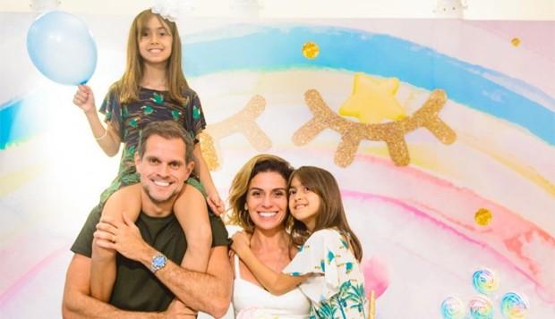 Giovanna Antonelli e Leonardo Nogueira com Antonio e Sofia (Foto: Reprodução/Instagram)