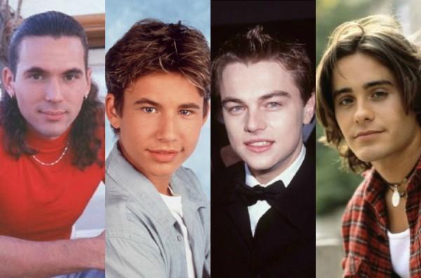 Jason David Frank, Jonathan Taylor Thomas, Leonardo DiCaprio e Jared Leto (Foto: Divulgação/Getty Images)