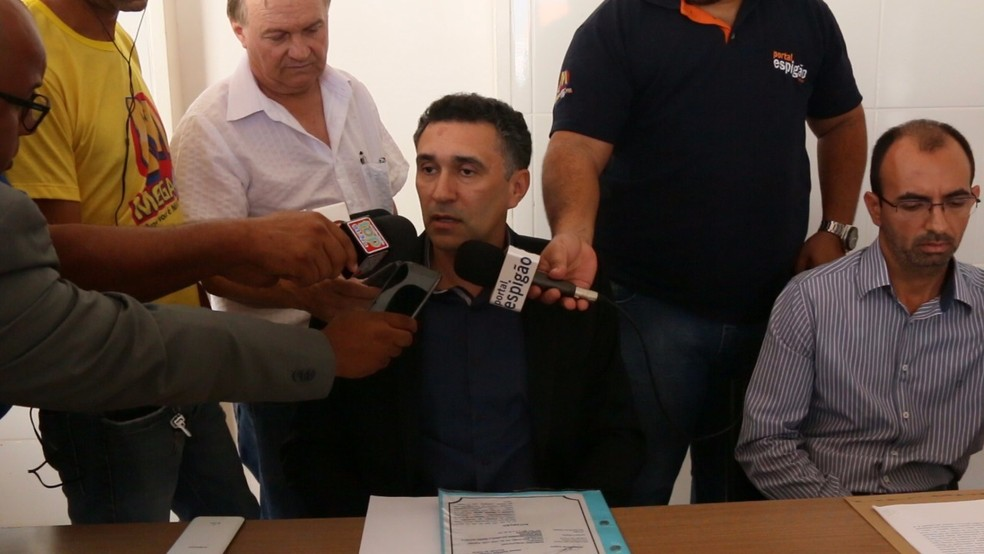 Delegado fala sobre´prisão (Foto: Portal Espigão/Reprodução)