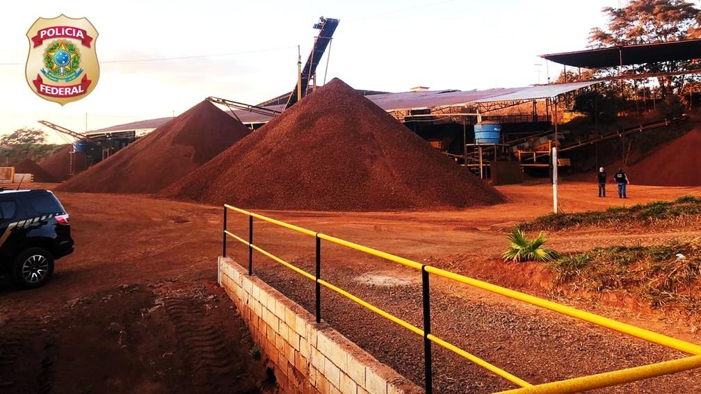 Mineração ilegal era feita em Nova Lima, na Grande BH — Foto: Polícia Federal/Divulgação