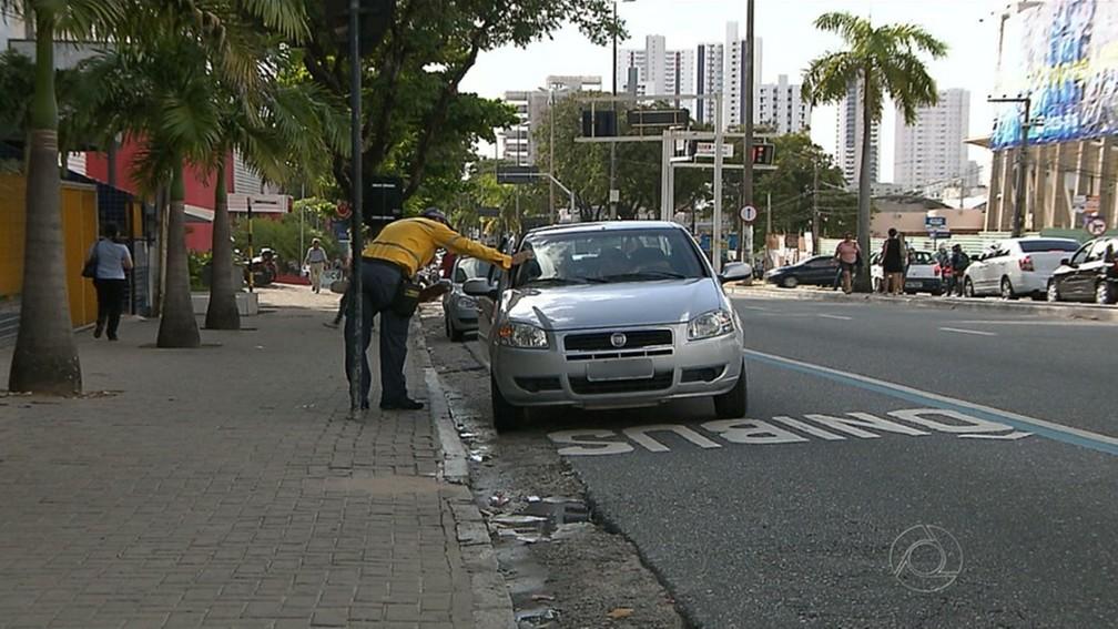 Faixas exclusivas de ônibus em João Pessoa estão liberadas aos domingos e feriados, diz Semob-JP (Foto: Reprodução/TV Cabo Branco)