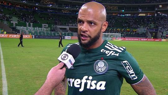 """Felipe Melo analisa vitória:""""Palmeiras mostrou uma gana de vencer desde o primeiro minuto"""""""