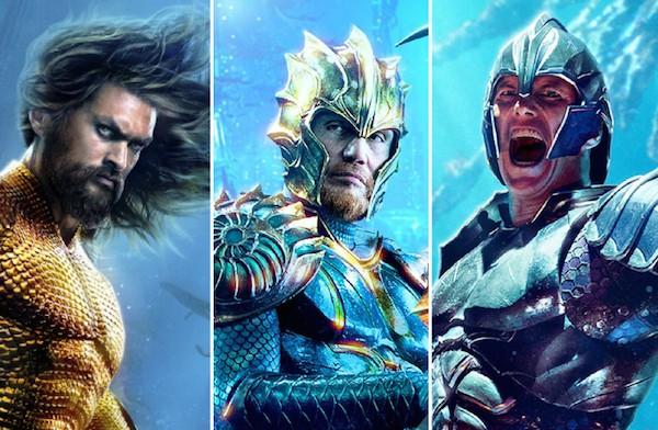 Imagens dos novos pôsteres do filme do herói Aquaman (Foto: Divulgação)
