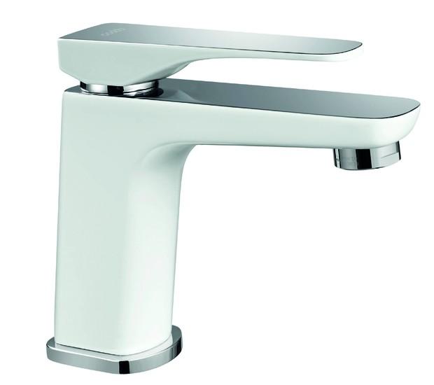 Codda Metais - Misturador monocomando de mesa para lavatório Palladium, com acabamento white chrome, de R$ 1.415,07 por R$ 999 (Foto: Divulgação )