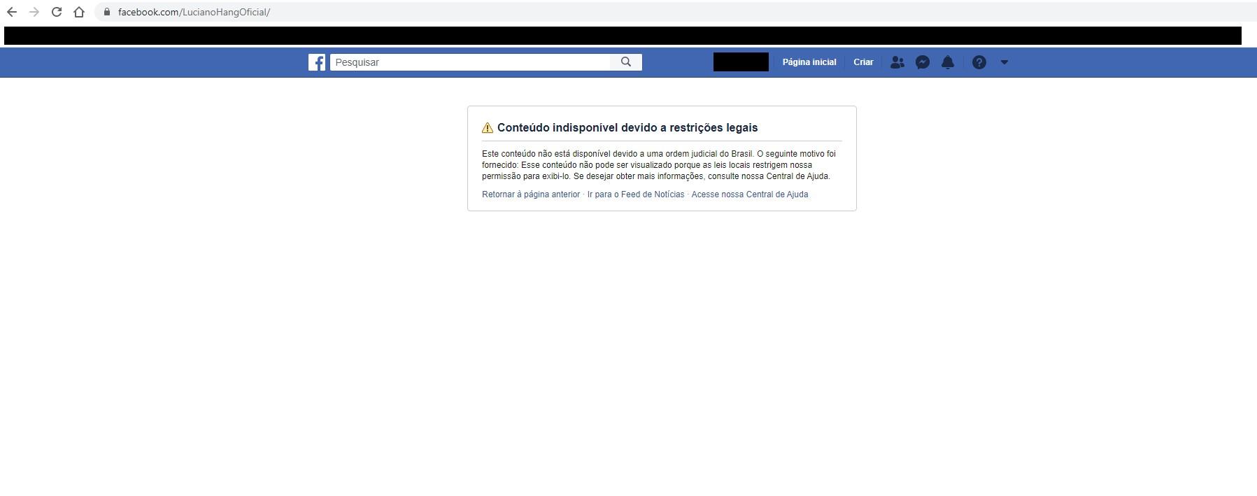 Facebook diz que vai recorrer de decisão do STF que bloqueou conta de bolsonaristas