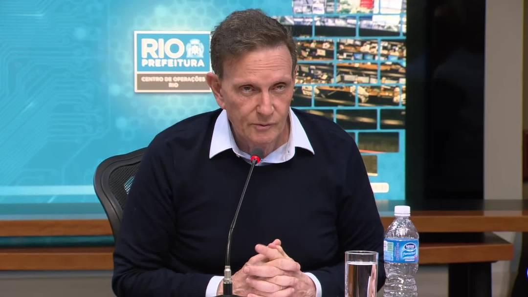 Prefeito Marcelo Crivella concede entrevista