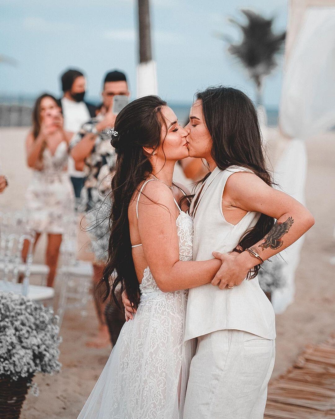 Cantora Maria Clara se casa com a apresentadora Fernanda Aguiar (Foto: Aldenor Junior)