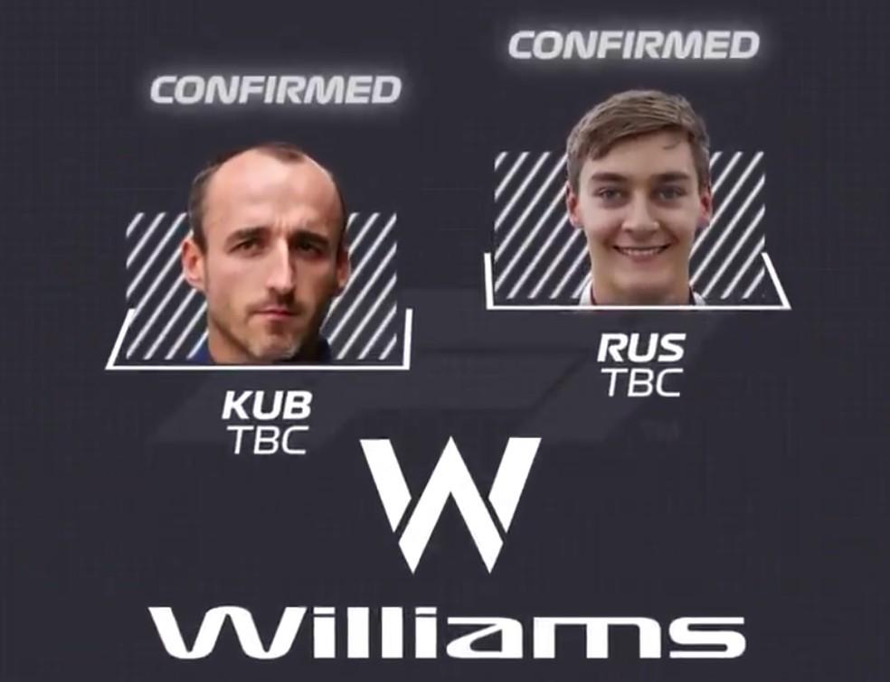Williams — Foto: Reprodução