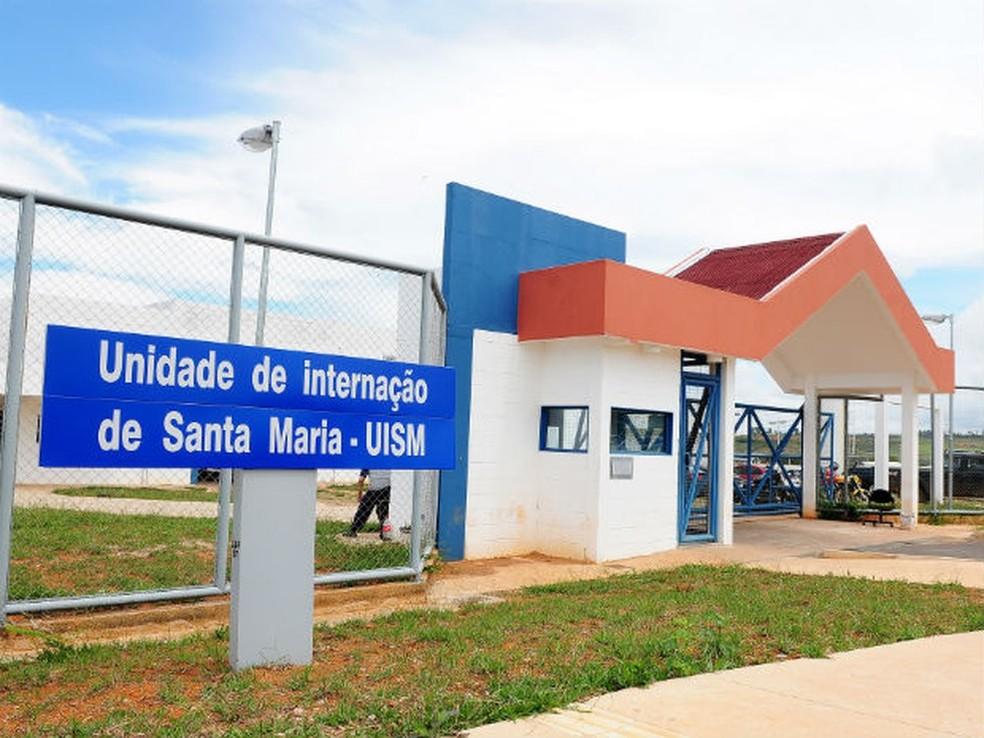 Fachada da Unidade de Internação de Santa Maria, no Distrito Federal — Foto: Pedro Ventura/GDF