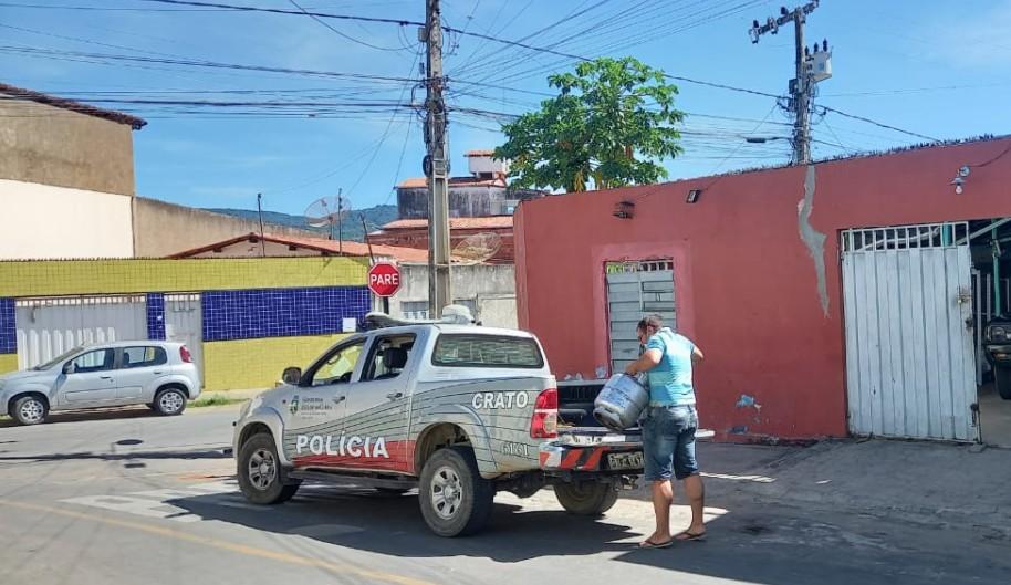 Operação contra venda ilegal de gás liquefeito prende oito pessoas em Crato, no Ceará