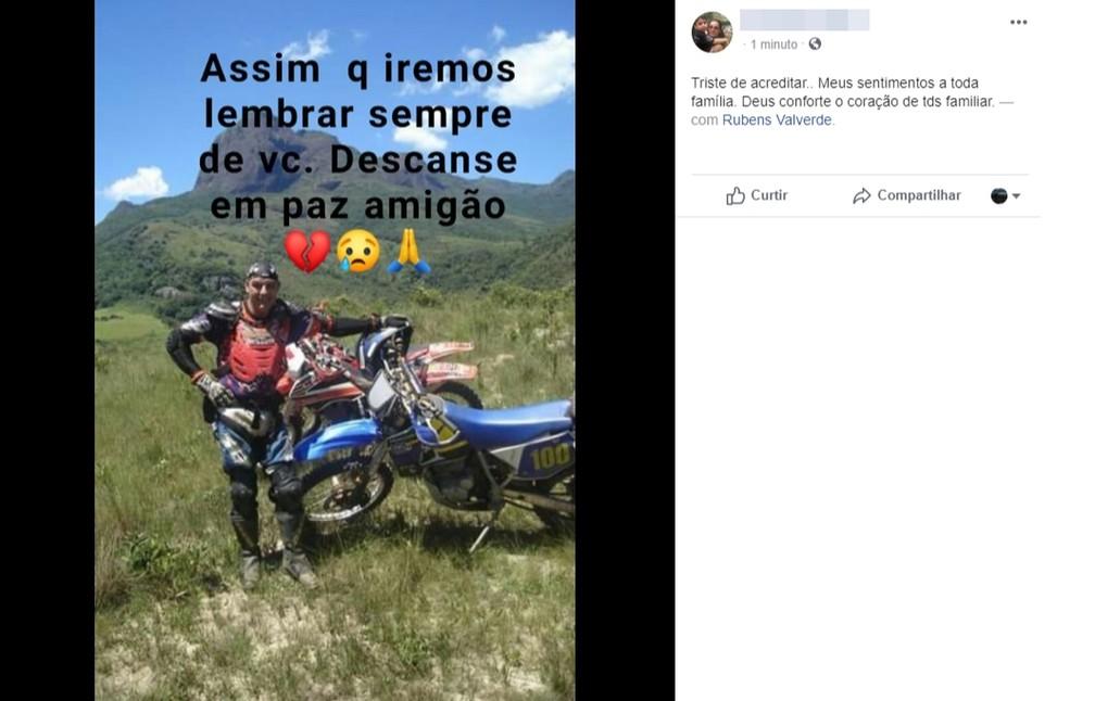 Amigos lamentam morte de Rubens Valverde, pai da atriz Isis Valverde — Foto: Reprodução / Facebook