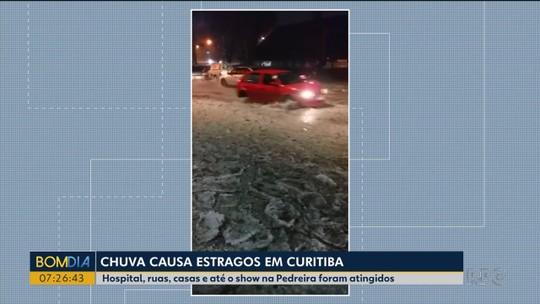 Estragos da chuva deixam o trânsito complicado em bairros de Curitiba