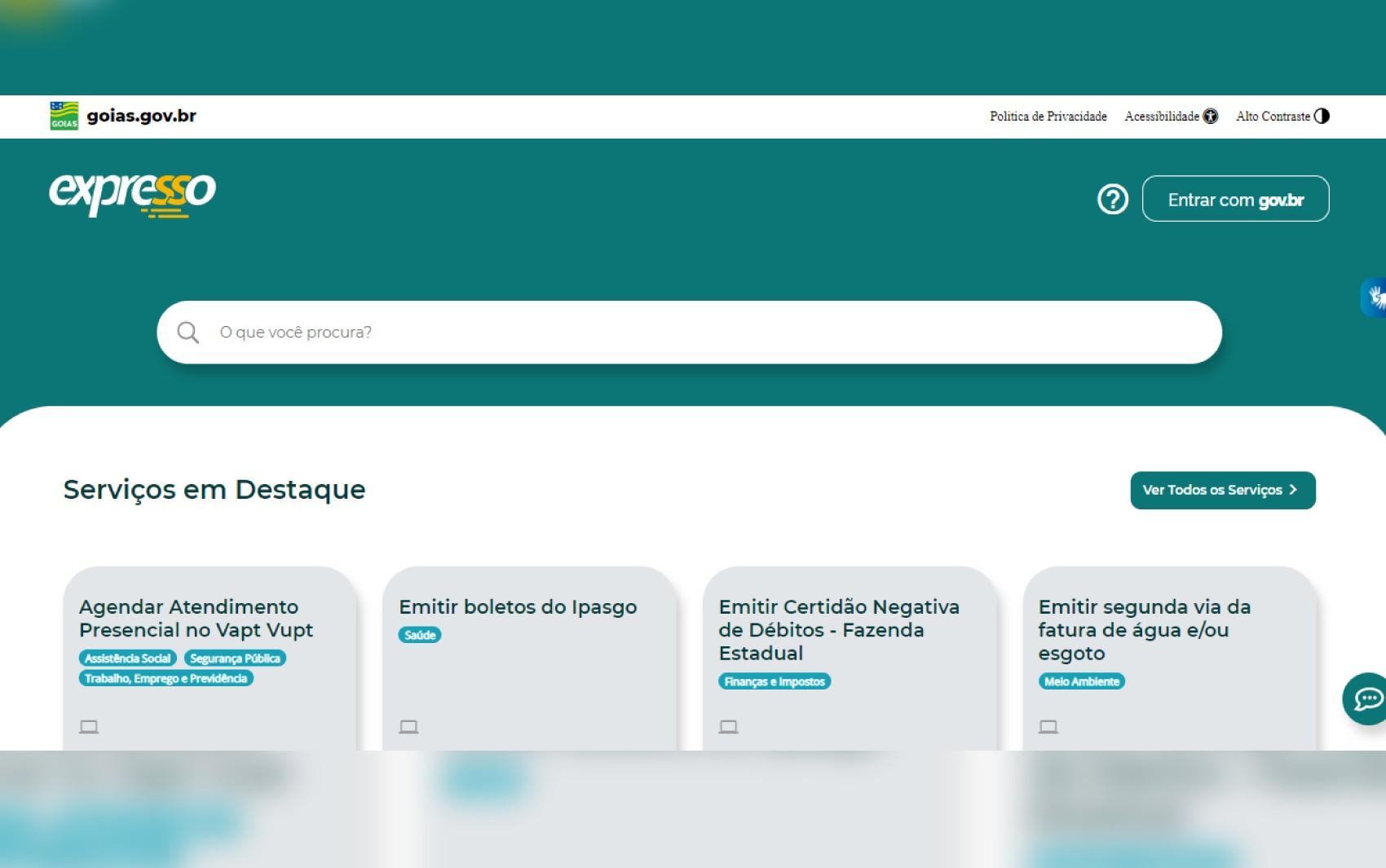 Plataforma on-line de serviços públicos, 'Expresso' é lançado pelo governo de Goiás