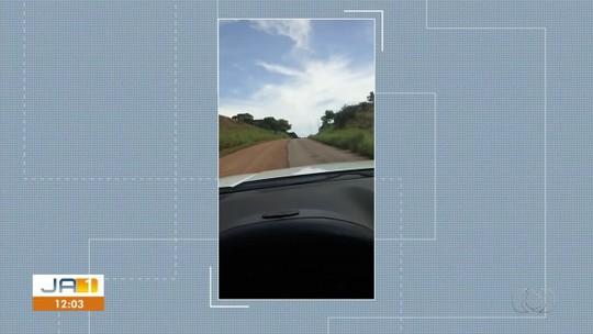 Vídeo mostra rodovia asfaltada pela metade no sudeste do Tocantins